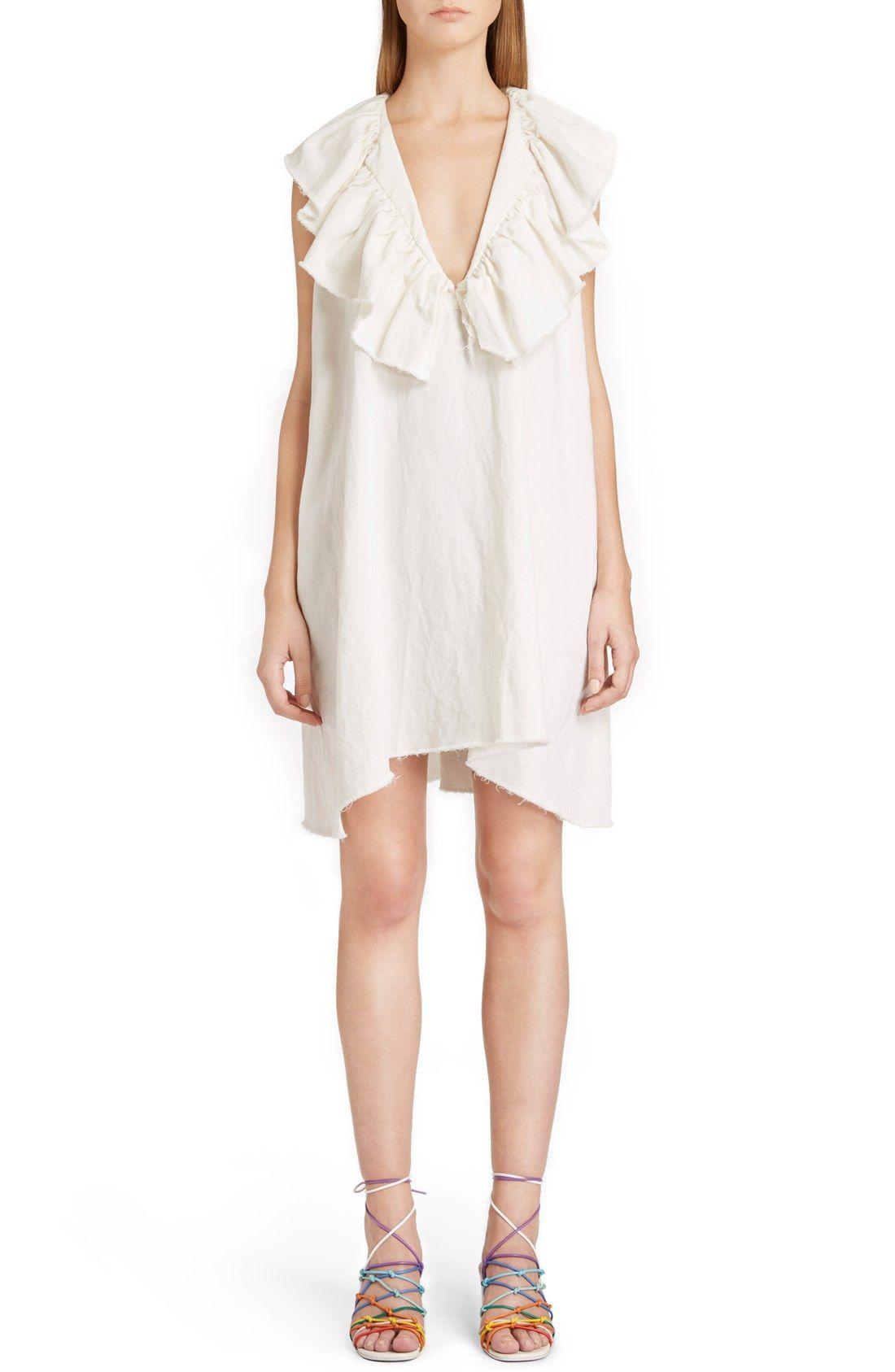 Chloe Ruffle V Neck Shift Dress Nordstrom Shift Dress Dresses Nordstrom Dresses [ 1687 x 1100 Pixel ]