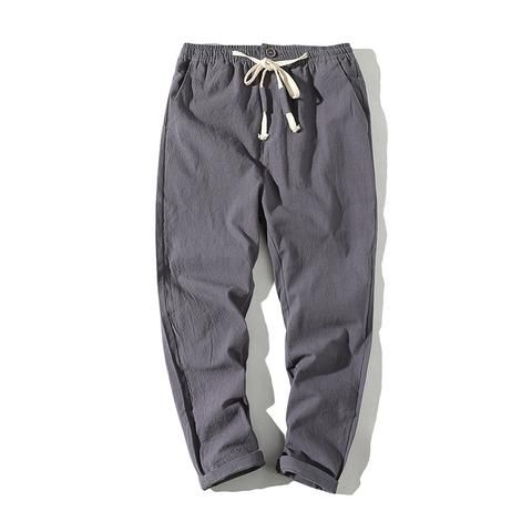 0359dd19678 Sinicism Store Size Plus 5XL Cotton Linen Harem Pants Men Belt Jogger Pants  Male Trousers Chinese Traditional Cloths