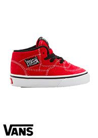 9f366f2ae1 Red Half Cab Vans Shoe. Kids Vans For boys.