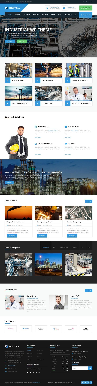 Industrial Factory Business Wordpress Theme
