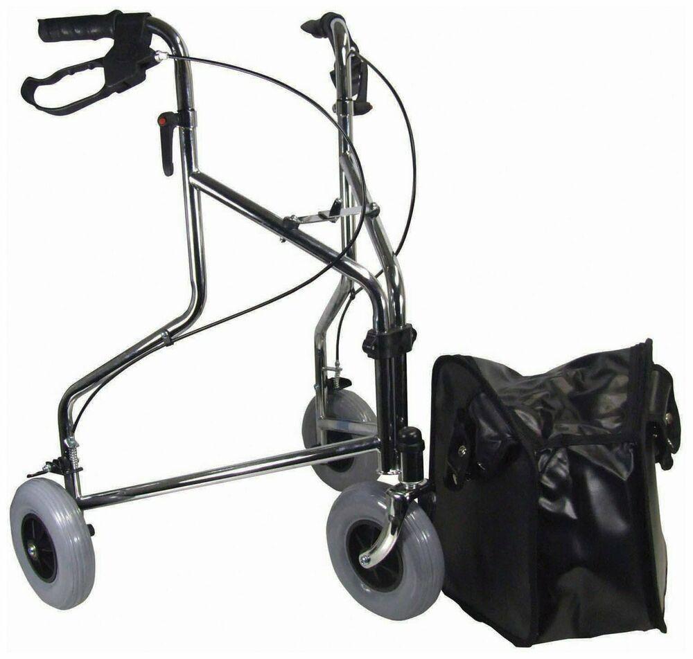 Aidapt Vp100c Tri Walker Delta Gehrad Mit Tasche Chrom Erste Hilfe Hilfsmittel Rad