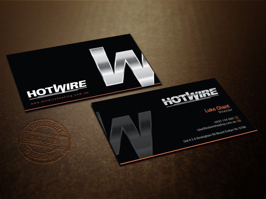 freelance Hotwire Heating Business Card by Wh!te Dr@gon | Business ...