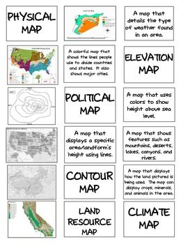 Types Of Maps Sort And Foldable For Interactive Notebook Social