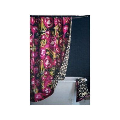 Missoni For Target Reversible Passione Floral Fabric Shower Curtain