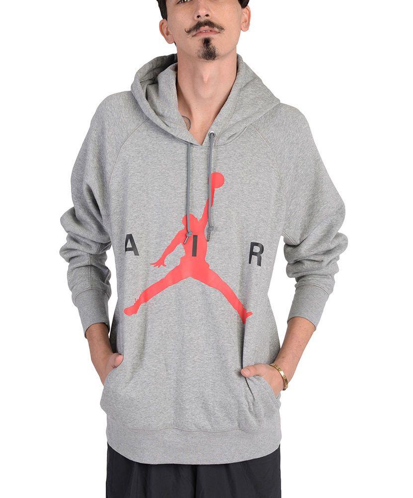 Jordan Mens Air Jordan Air Pullover Hoodie Grey 807315 063