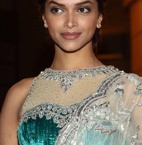 Deepika Padukone Net Blouse & Saree | Deepika padukone ...