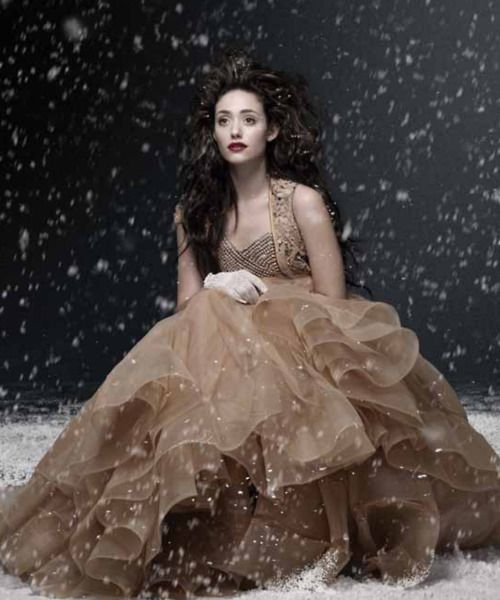 snowy, tulle layers