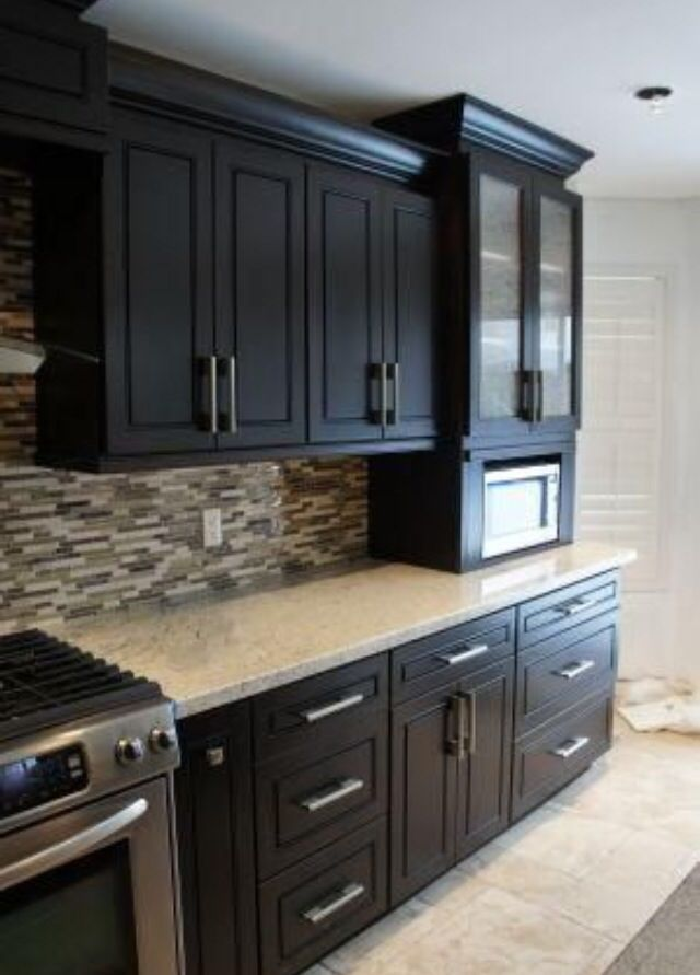 Best Espresso Cabinets And That Backsplash Love It Wooden 400 x 300