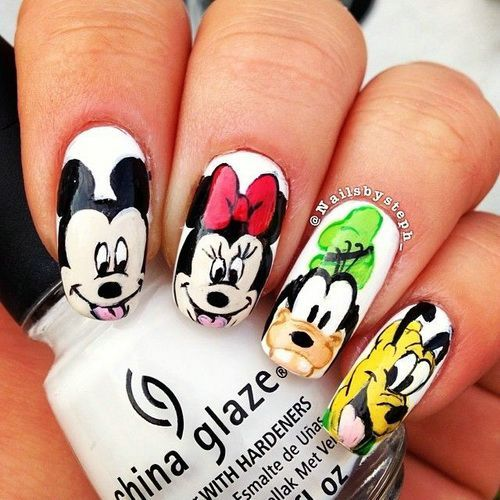 Disney Nail Art Pictures - Cute Simple Nail Designs - Disney Nail Art Pictures - Cute Simple Nail Designs Fingernails