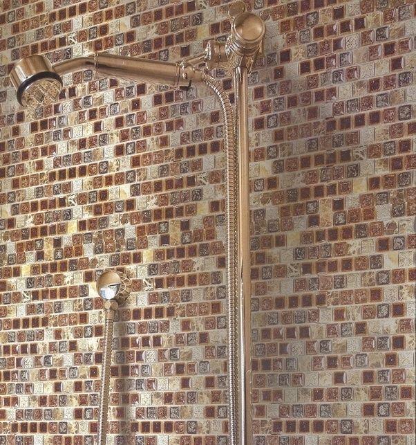 Glazzio Tiles Tranquil 1x1 Mosaic TS920 Crocodile Road