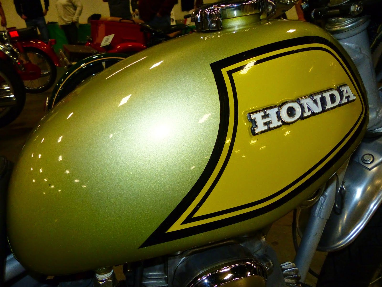 1973 Honda SL350 on display at the 2015 Idaho Vintage