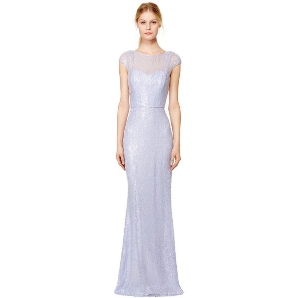 Rental Badgley Mischka Lilac Petal Gown ($130) ❤ liked on Polyvore ...