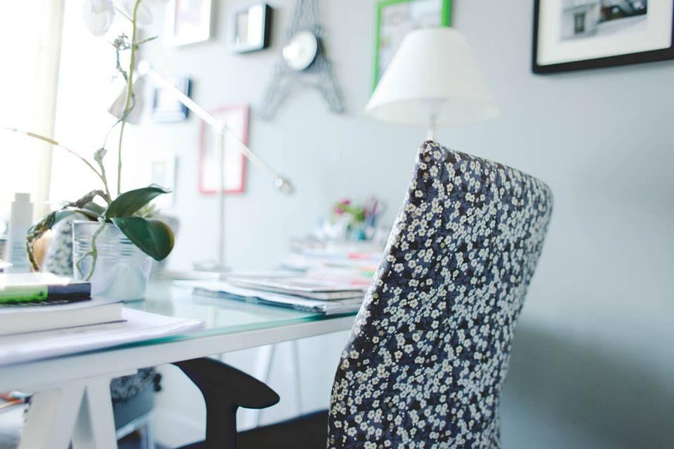 les chaises de bureaux recouvertes d 39 un tissu liberty chez my little paris my little office. Black Bedroom Furniture Sets. Home Design Ideas