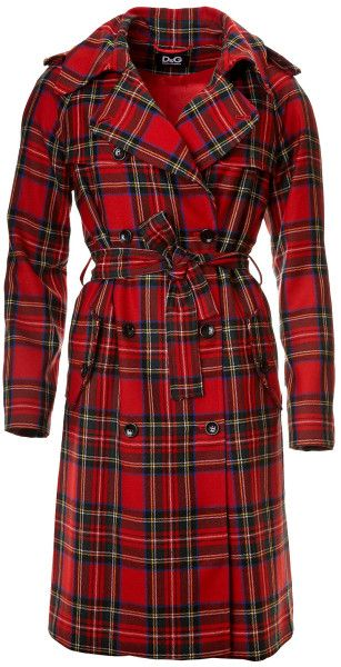 45455c0a8d23 D g Coat Plaid in Red