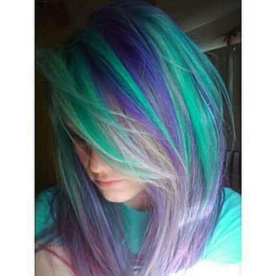 Bluegreen u purple hair fav hair styles pinterest blue green