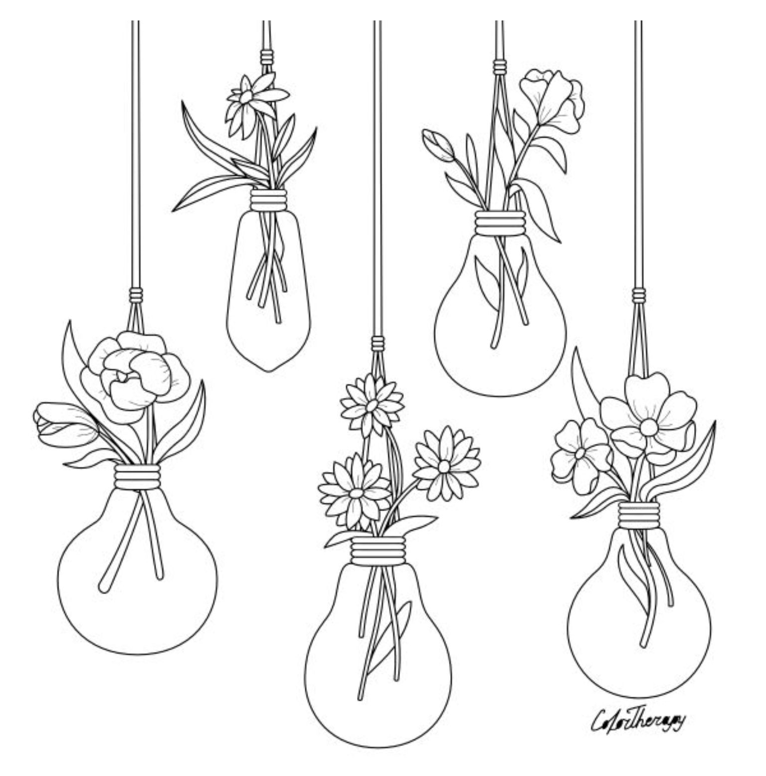 The Sneakpeek For The Next Gift Of The Day Tomorrow Do You Like This One Flowers Lightbulbs Flower Doodles Flower Drawing Bullet Journal Inspiration