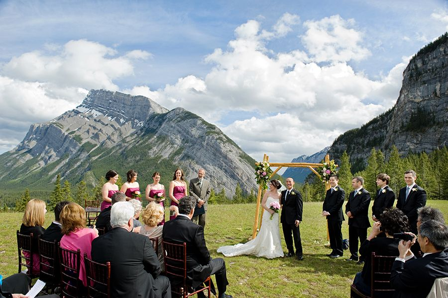 Three Jaw Dropping Indoor Banff Wedding Ceremonies: Tunnel Mountain Reservoir In The Town Of Banff. Canoe