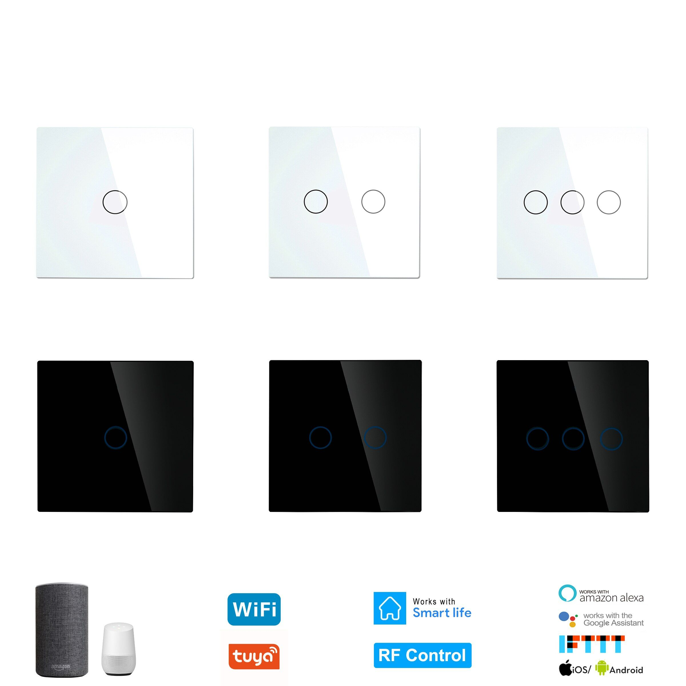 Smart Wifi Touch Light Sensor Switch No Neutral Wire Required Tuya Rf433 Remote Home Controller Works With Ale Light Sensor Switch Smart Wifi Light Sensor
