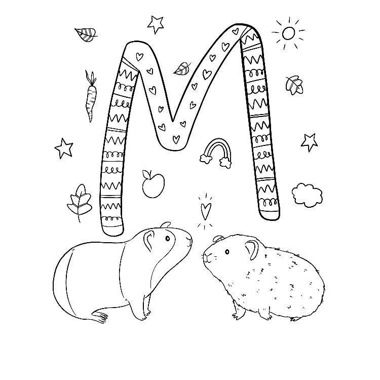 Ausmalbild M Wie Verliebte Meerschweinchen Von Alexa Malt Freubundel Ausmalbild Ausmalen Meerschweinchen