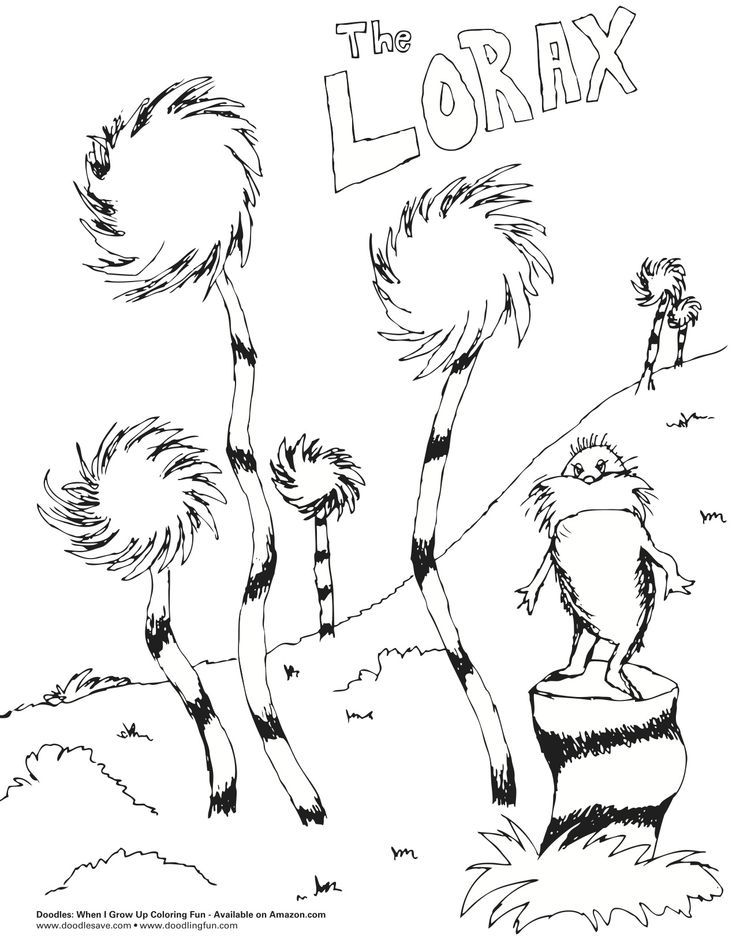 Lorax Trees Printable Coloring Pages Az Dr