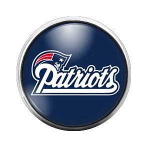 Patriots - 18MM Glass Dome Candy Snap Charm GD0283