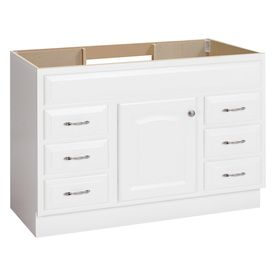 Project Source White Traditional Bathroom Vanity Common 48 In X 21