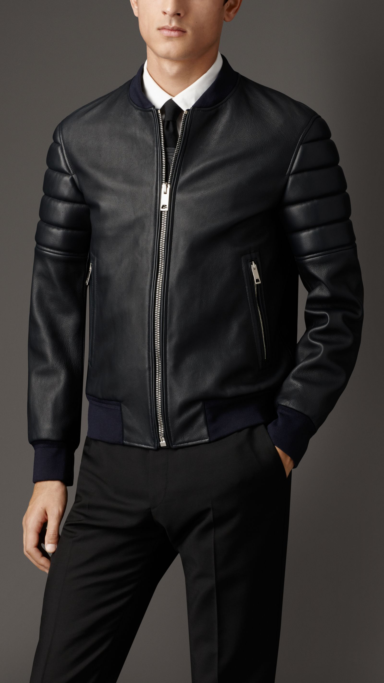 Men S Jackets Leather Bikers Bomber Quilted Burberry United Kingdom Leather Jacket Outfit Men Leather Fashion Men Jackets Men Fashion [ 2840 x 1600 Pixel ]
