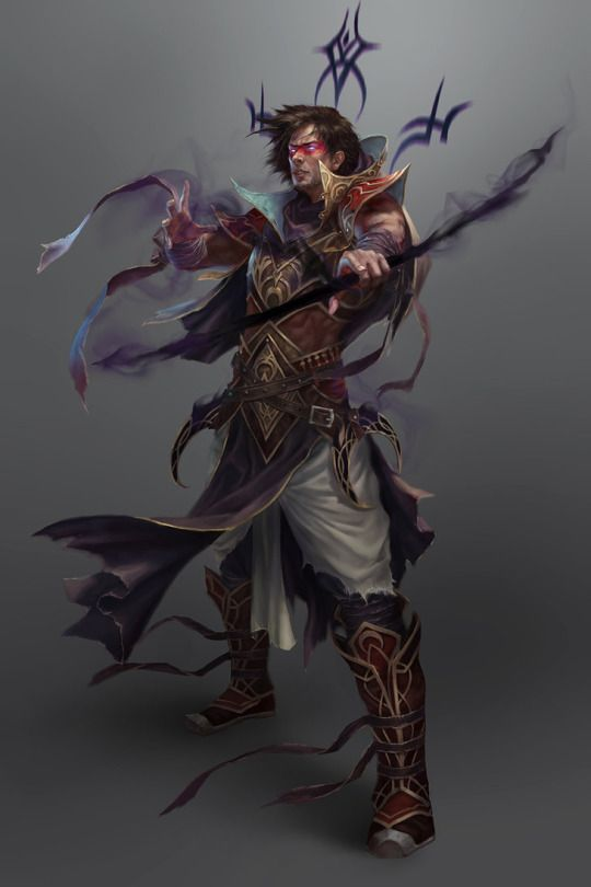 Human Magus - Pathfinder PFRPG DND D&D d20 fantasy | RPG Character
