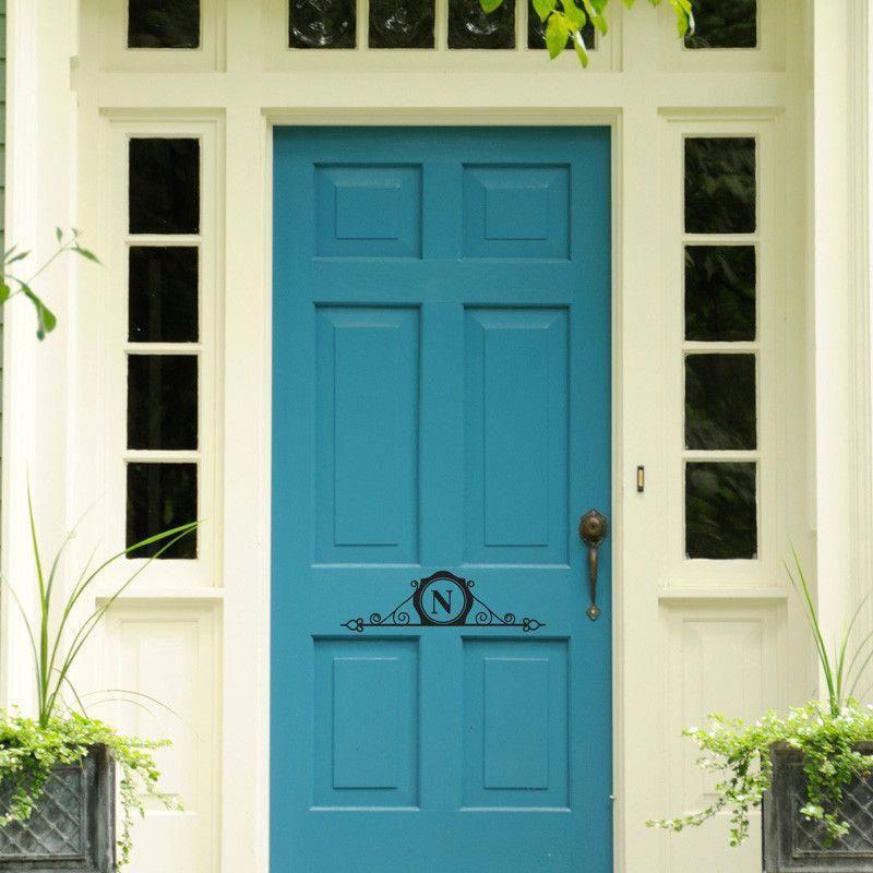 11 Elegant Hallway Decorating Ideas: A Sophisticated, Elegant Monogram For Your Front Door