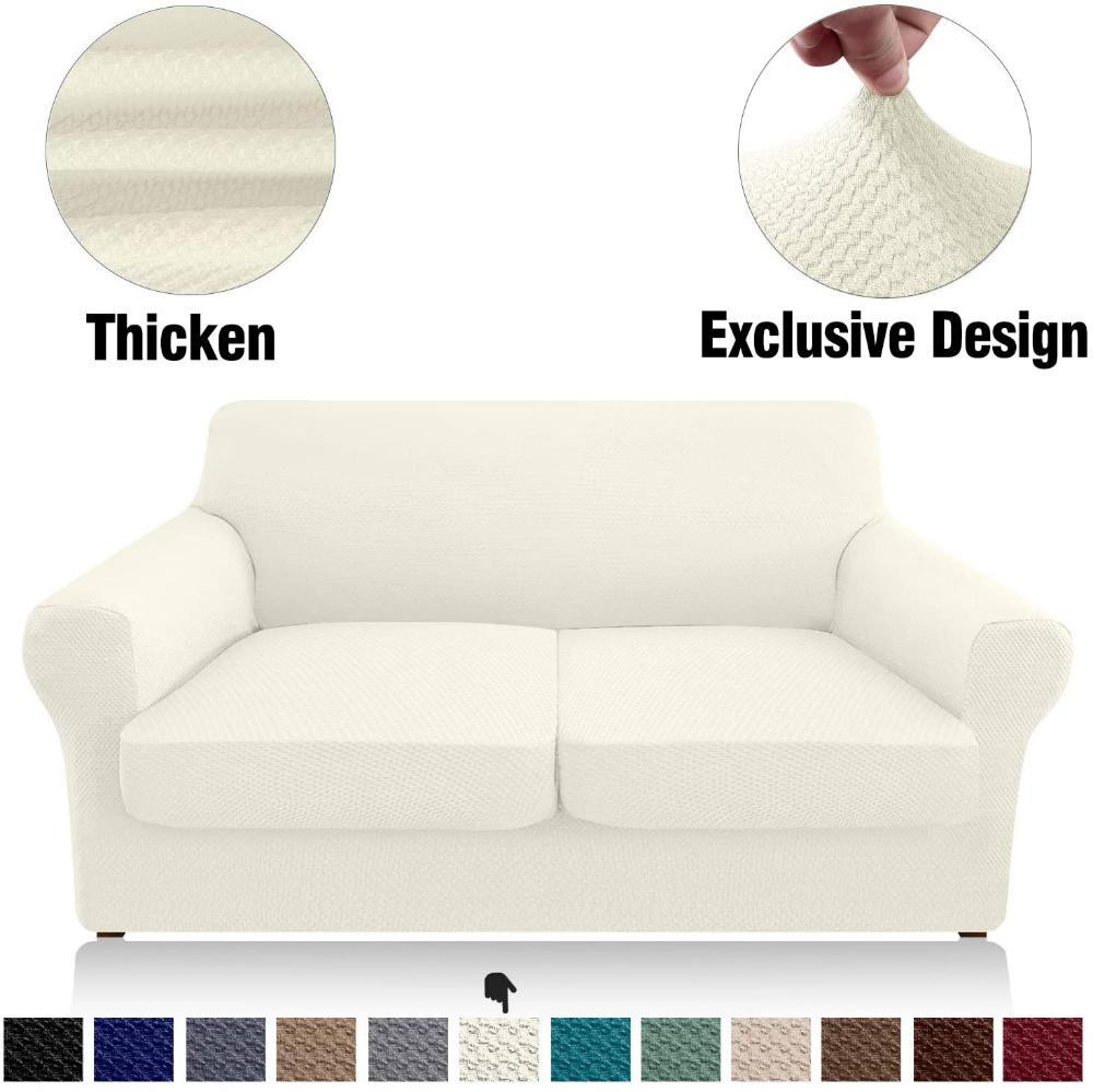 Amazon Com Granbest 3 Piece Stretch Sofa Slipcover Separate Cushion Couch Covers Thick Premium Loveseat Slipcover Ja In 2020 Slipcovered Sofa Sofa Covers Premium Sofa
