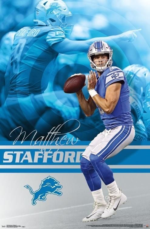 buy popular b32e8 a4809 NFL Detroit Lions Matthew Stafford Wall Poster | Go Lions ...
