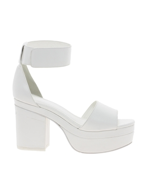 b7d260248884 Fashion trend of WHITE STRAPPY CHUNKY HEELED PLATFORM SANDALS on The Hunt.  ASOS ...