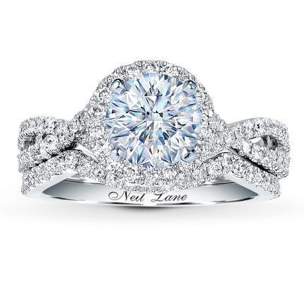 e5d7a9929 1.51 Carat J-I1 Good Cut Round Diamond plus Neil Lane Bridal Setting 3/4 ct  tw Diamonds 14K White Gold