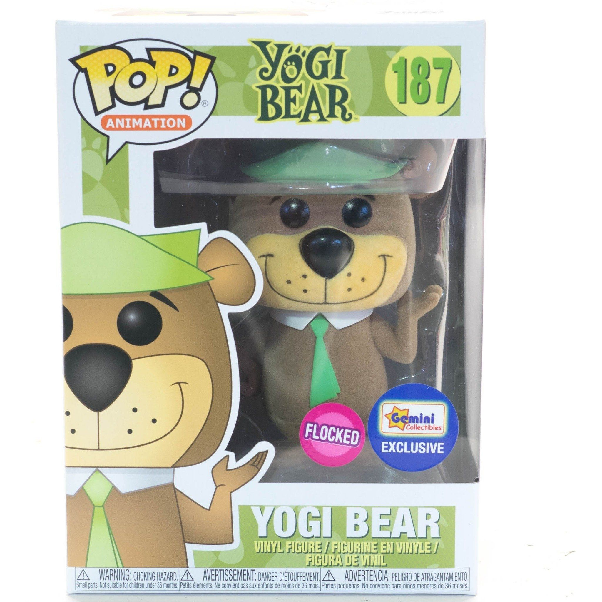 Yogi Bear Vinyl FunKo Free Shipping! Yogi Bear Flocked Pop