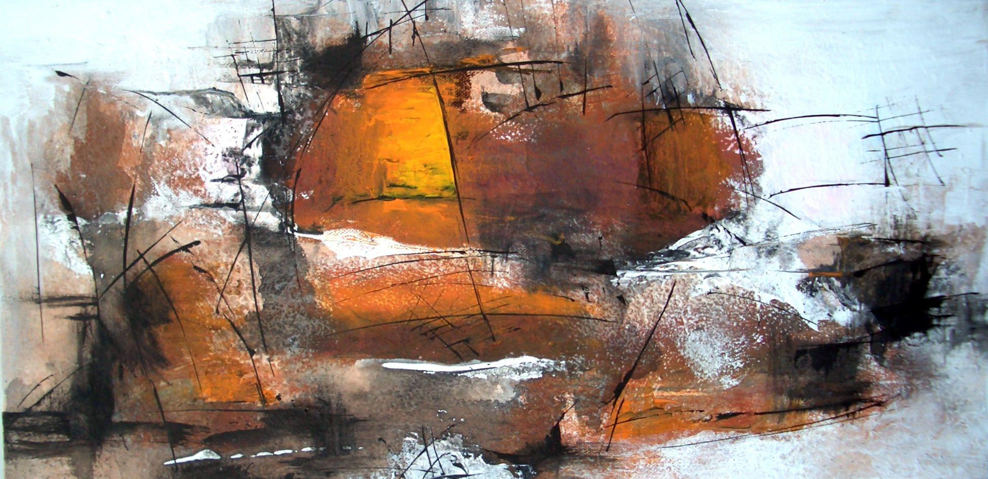 Serie Abstract-Acryl-Tusche auf Leinwand 30x60cm Jahr: 2013 Preis auf Anfrage