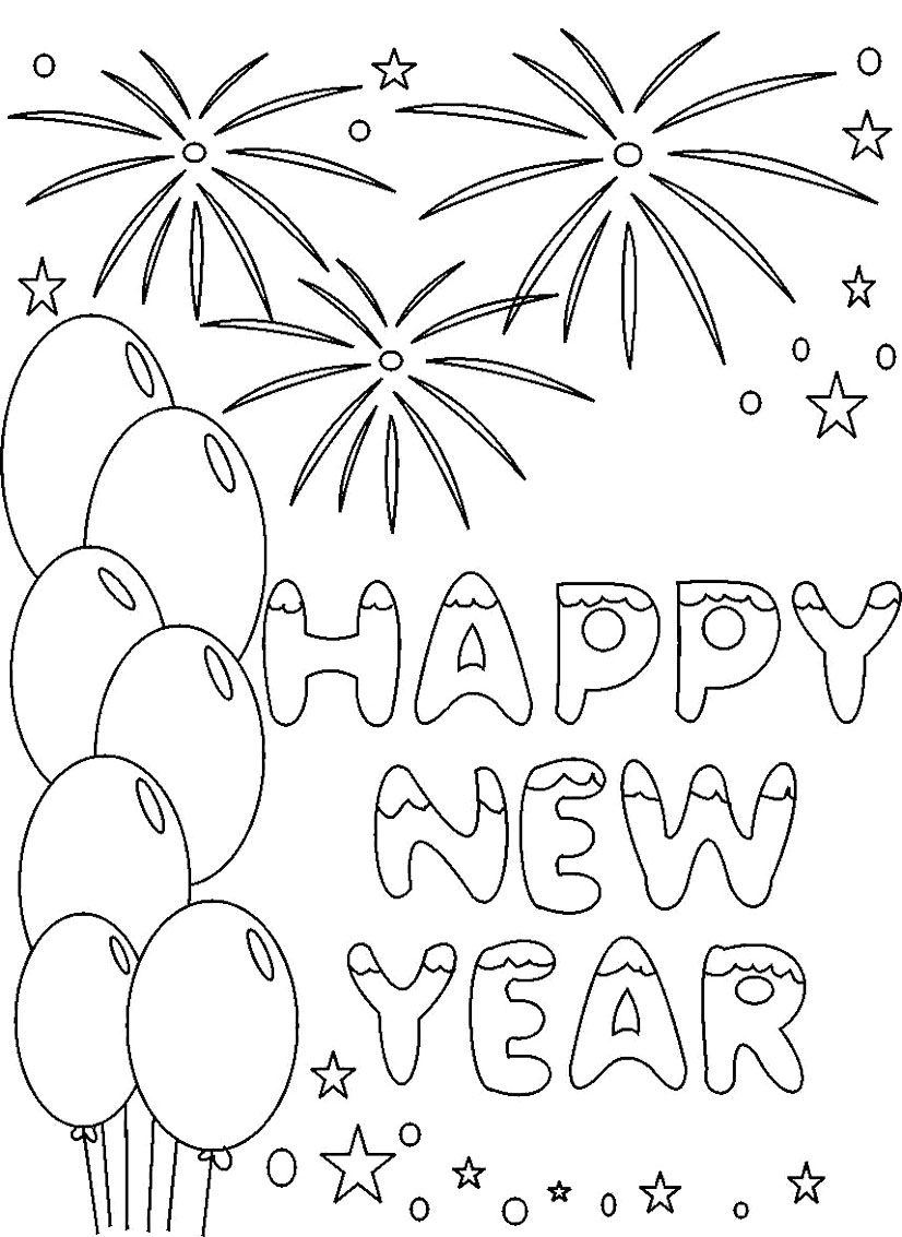 new years coloring pages - Google Search | Adult Doodle Art and ...
