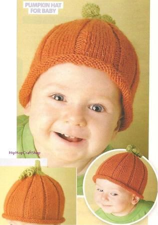 Childs Pumpkin Hat Knitting Pattern