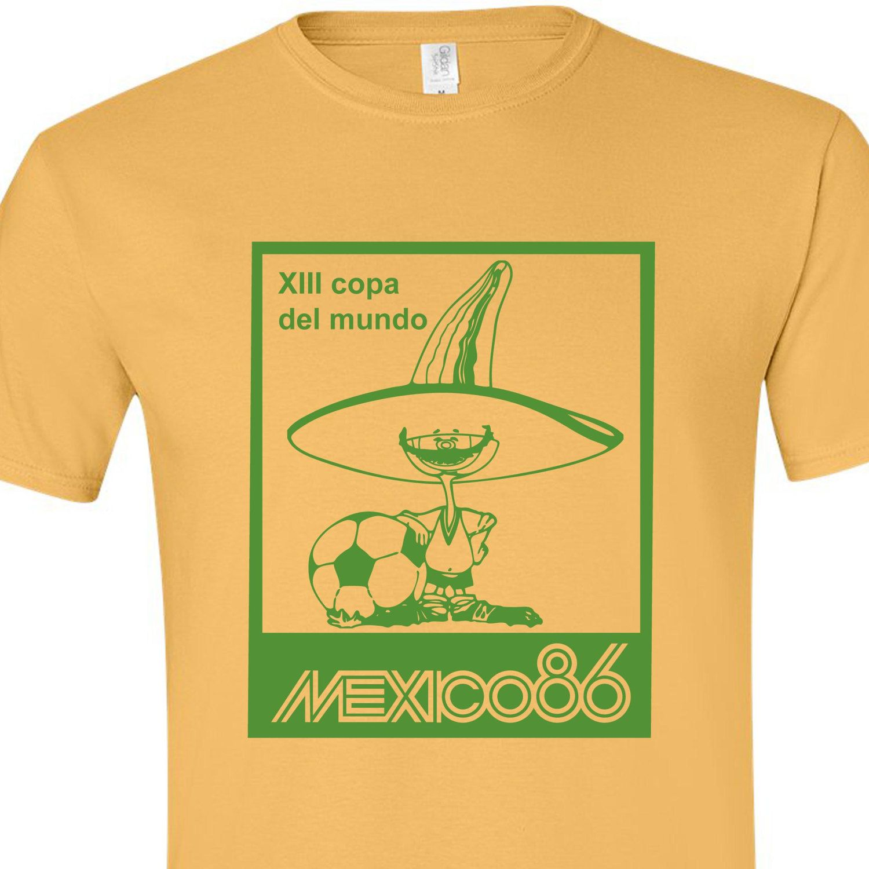 fcc0f7210 mexico 70 86 world cup mascot logo pique football soccer retro vintage  brazil argentina pele maradona mascot t shirt by Northwestprint on Etsy