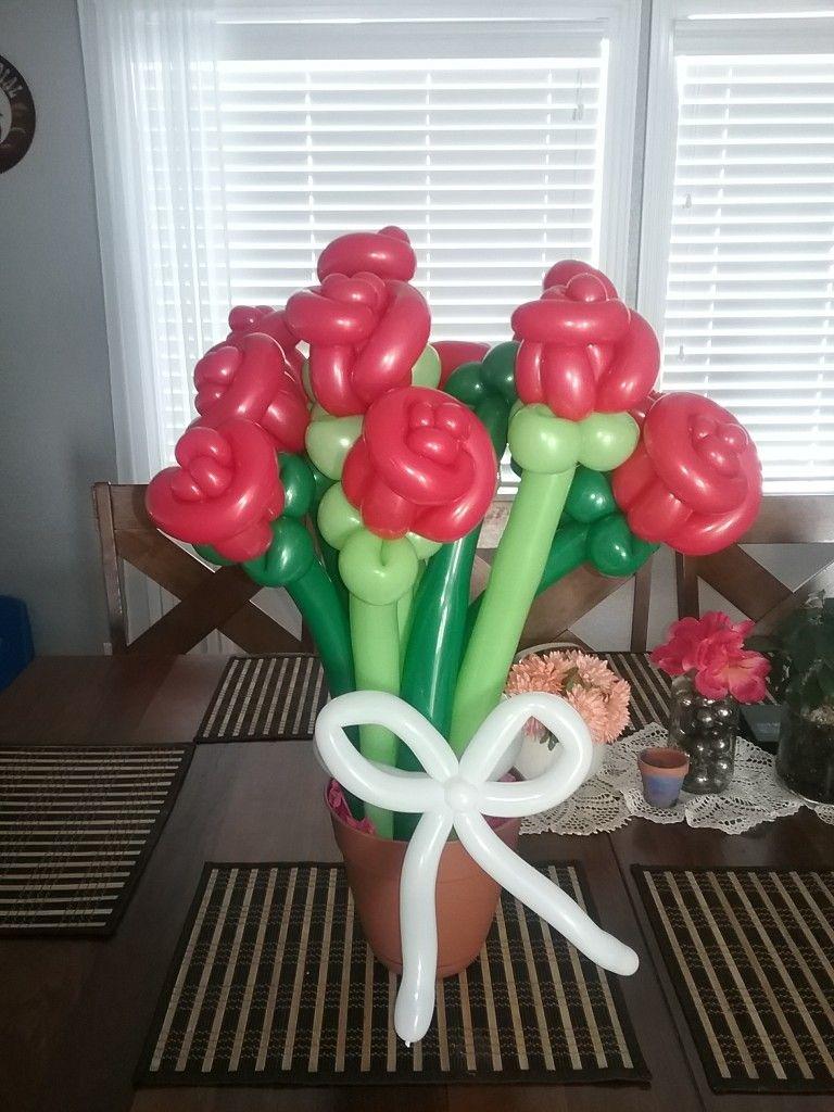 Balloon Rose Bouquet Balloon Twisting Pinterest