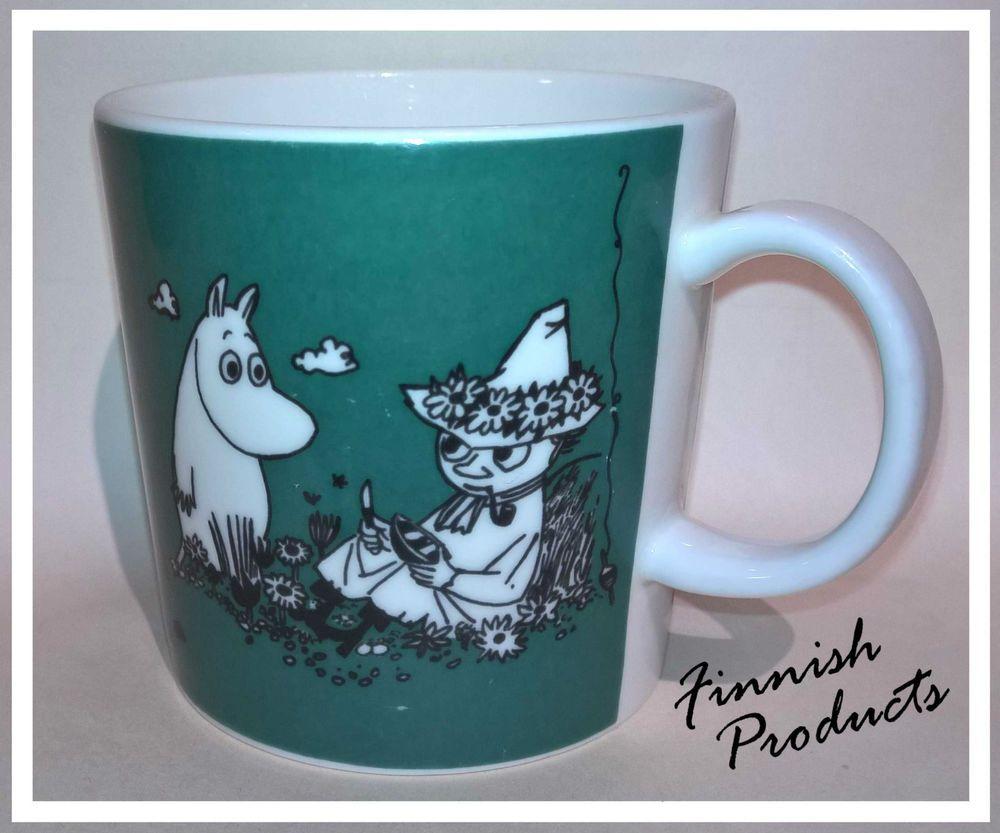 Moomin mug Dark Green (Ongella) 1991-1996