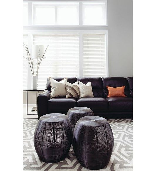 Lovely living room with black leather couch lovely - Black leather living room decorating ideas ...