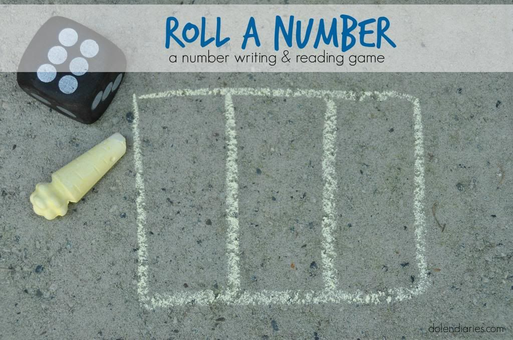 Roll A Number {A Number writing & reading game}