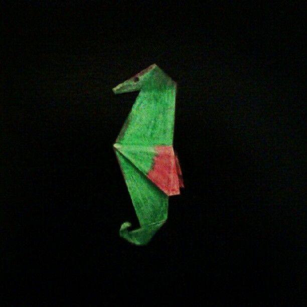 Caballito de mar de #origami