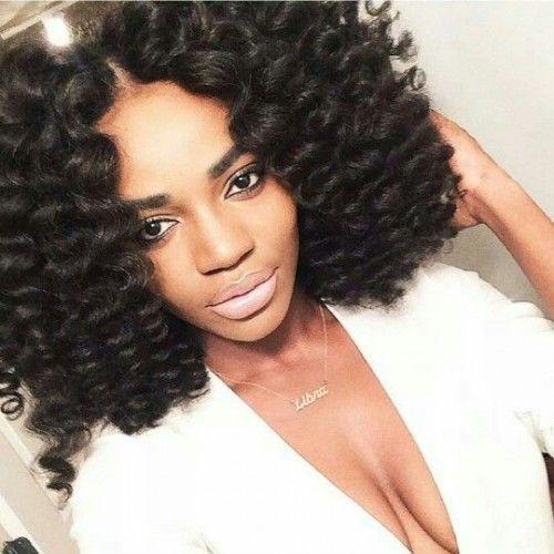 30 Trendy Crochet Braid Hairstyles My Blog Solomonhairstyleshaircuts Space Curly Hair Styles Natural Hair Styles Hair Styles