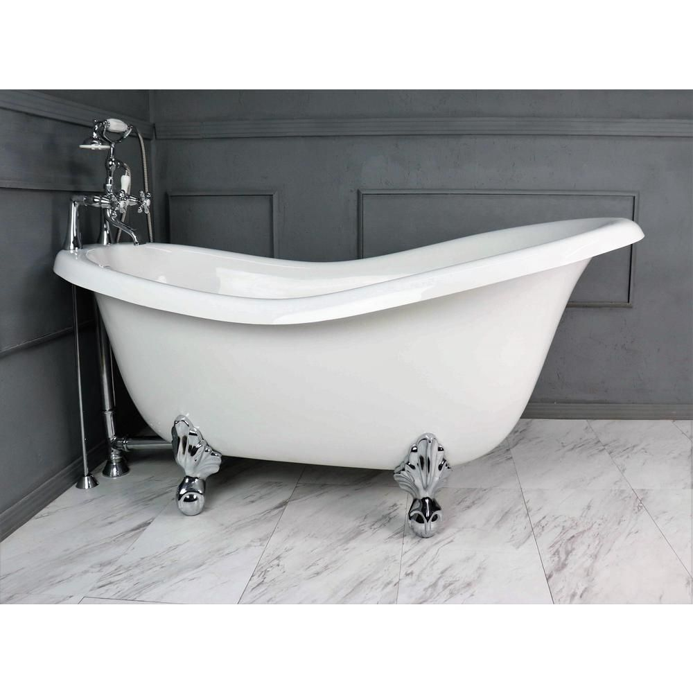 American Bath Factory 67 In Acrastone Acrylic Slipper Clawfoot