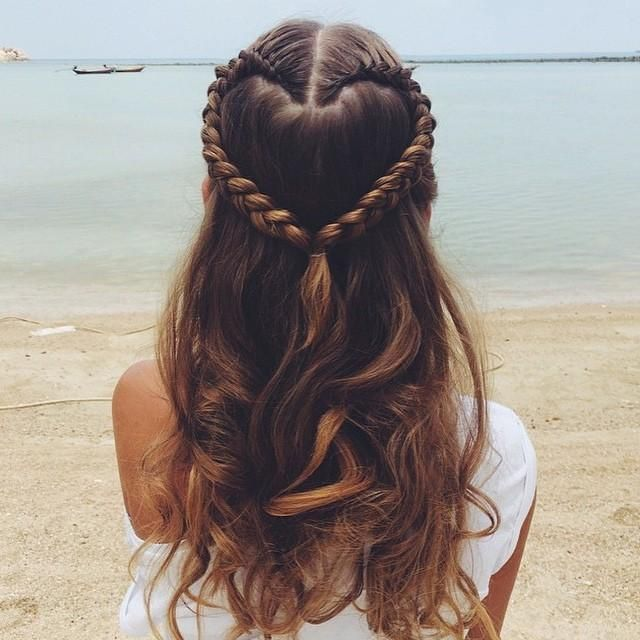 Heart Braid Trends Style Hair Styles Hairstyle Hair