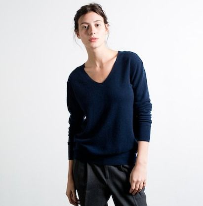 Fall 2015: Slouchy Navy Cashmere Sweater (Everlane slouchy navy ...