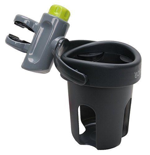 BRICA Deluxe Drink Pod Stroller Drink Holder  Gray >>> Click image for more details.