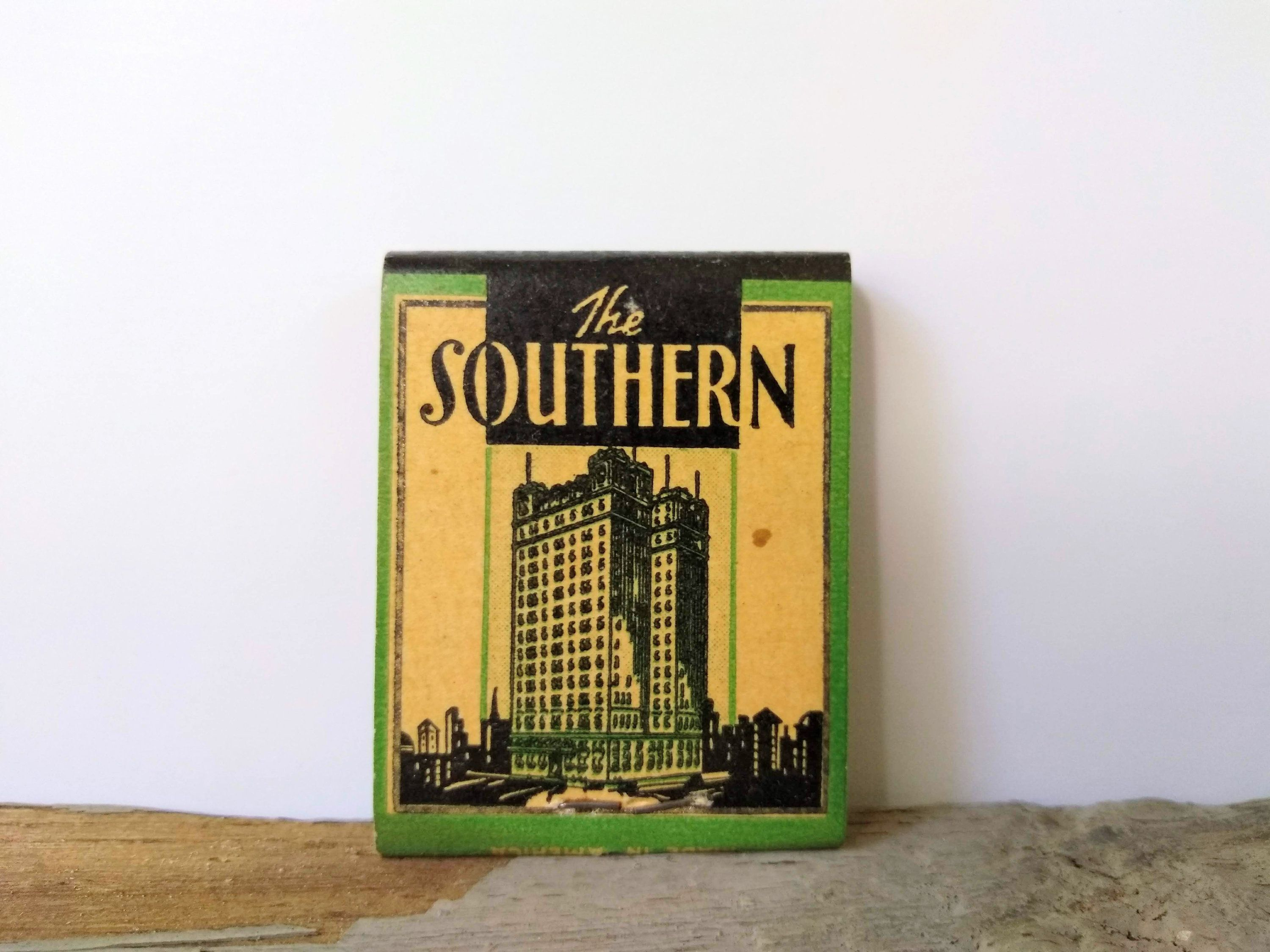 Vintage 1940 S The Southern Hotel Matchbook Grand Hotel Etsy Grand Hotel Baltimore Hotels Vintage