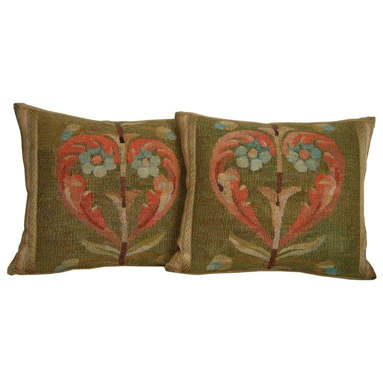 Pair Of Baroque Style Throw Pillows